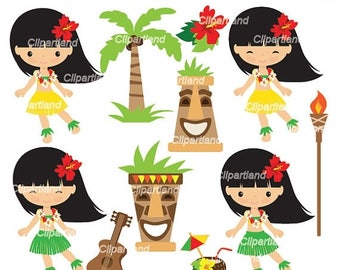 ON SALE INSTANT Download. Ch_Hawaii_17. Hawaii clip art. Personal and commercial use.