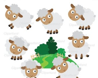 ON SALE INSTANT Download.  Cute sheep 1. Personal and commercial use.