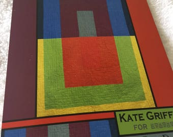 """Paper Pattern for a quilt  called Color Block by Kate Griffin of Villa Rosa Designs 48"""" x 72"""""""