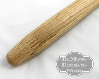 Small Maple French Rolling Pin,  Solid Walnut, Hand Turned,  Tortilla or Cookies, Gourmet Kitchen, Handle Free