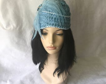 Light Blue Church hat, Mother of the Bride hat, Baby Blue Church hat, Women's church hat,