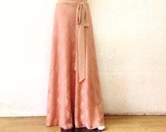 Maxi Skirt. Bridesmaid Skirt. Long Evening Skirt. Lace Floor Length Skirt.