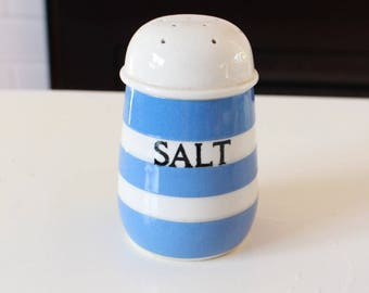 TG Green and Co Cornishware Salt Shaker Blue and White