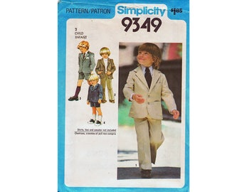 Simplicity 9349 Child's Jacket Pants or Shorts Sewing Pattern UNCUT