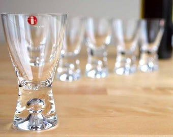 Iittala Tapio Schnapps / Liqueur / Shot Glasses Designed by Tapio Wirkkala / Made in Finland