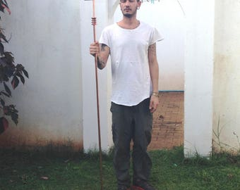 Ankh staff. copper  Priest' s 6 ft tall ankh staff with twisted top
