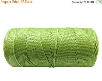 ON SALE Macrame Cord - 15 meters/16 yards - Waxed Polyester Cord  - Jewelry Cord - Pistachio