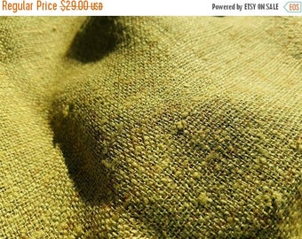 """ON SALE Vintage Olive Green Natural Jute Fabric, Home Accessories, Olive Green Burlap, Rustic Fabric, 46"""" Inch Wide"""