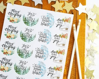 simple Merry Christmas stickers packaging supplies christmas card stickers packaging supplies