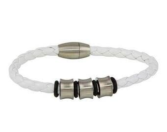 ON SALE White Leather Wrap Bracelet