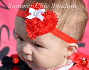 Valentine Headband, Red Heart Headband, Valentine Headband, Baby Headband, Infant Headband, Headband, Girls Headband, Red Heart Headband