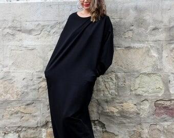 SALE ON 20 % OFF Black Maxi dress/ Long Sleeve Dress/ Maxi Dress/ Plus Size Dress/ Long dress/ Plus Size Clothing/ Fall Winter dress