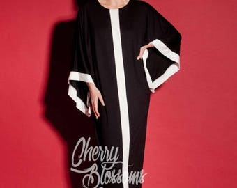 SALE ON 20 % OFF Black Maxi Dress/Long Black dres/ Caftan/ Abaya/ Plus size dress/ Plus size clothing/ Elegant dress/ Plus size maxi dress/