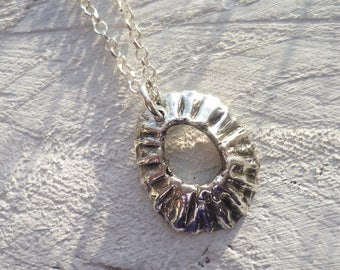 limpet shell necklace - silver shell necklace - fine silver jewellery