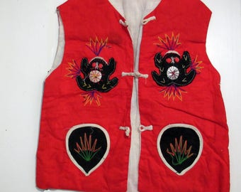Vintage Chinese Baby Vest - Jacket Made Approximately 30 Years Ago