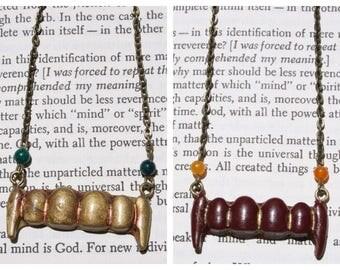 Vampire Fangs Pendant Necklace