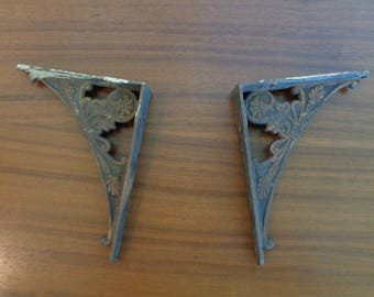 Pair of Ornate Antique Shelf Brackets