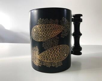 Vintage 1970s Portmeirion Zodiac Star Sign Pisces Fish Mug