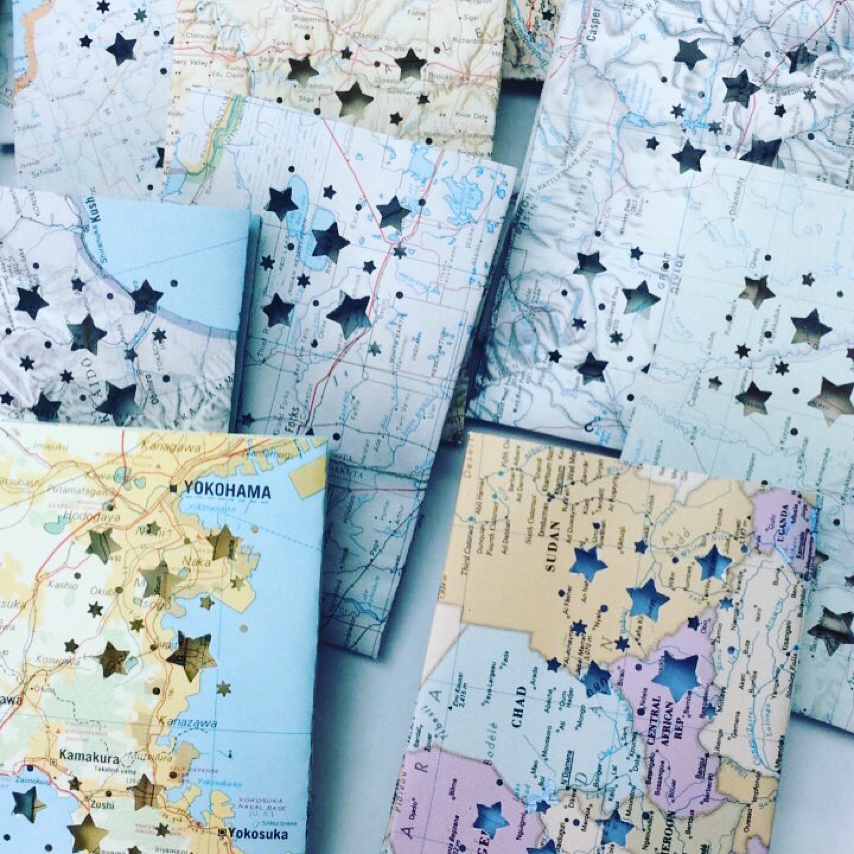 5 Mini Map Luminaries Travel Decor Map Luminaries Wel e to the