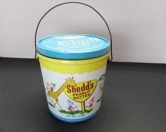 Vintage Shedd's Peanut Butter Tin Pail