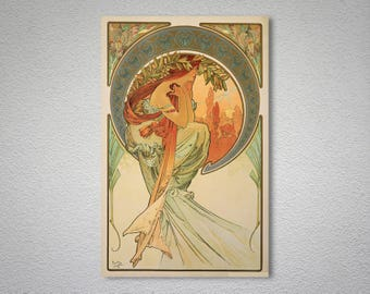 The Art Series, Poetry by Alphonse Mucha - Art Print -  Poster Paper, Sticker or Canvas Print / Gift Idea