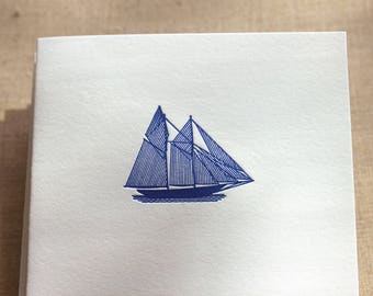 Sailboat Letterpress Card Set