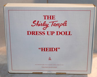 "1994 Danbury Mint Dress Up Doll - Shirley Temple Doll Outfit - ""Heidi"" - Mint in Original Packaging Box COA"