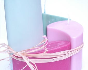 4 candles nesting green and Pink Perfume jacinthe@decomatine