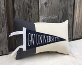 For Sara! American Roadtrip Pennant Pillow, George Washington University - Decorative Pillow