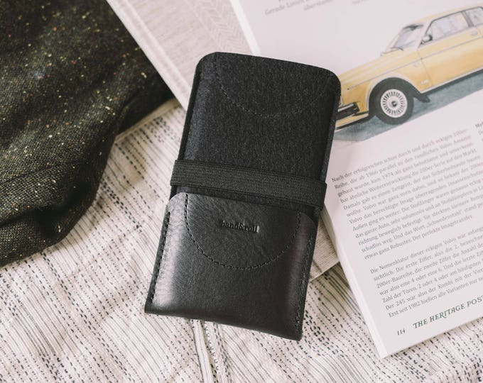 "Sleeve for Samsung Galaxy Note 8, leather, felt, ""Kangaroo"""