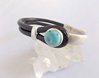 Turquoise bracelet, turquoise jewelry, turquoise, boho bracelet, turquoise cuff, leather bracelet, bracelet for women, women bracelet