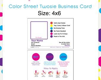 Color Street Twosie Card Style1 4x6 --Custom Digital Download