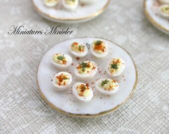 Miniature Dollhouse Party Eggs Dish