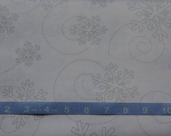 Christmas Fabric/Snowflake Material/Choose Gray, White, Black/Maywood Studios/Cotton Quilting Yardage/Craft Supply/Fat Quarter, By The Yard