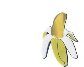 Handmade power banana moschino look lucite earrings
