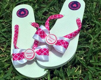 Flower Girl Shoes, Flip Flops for Wedding, Flower Girl Flip Flops, Sandals for Girls, Flower Girl Accessories, Flower Girl Gift