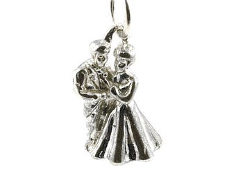 Sterling Silver Bride & Groom Charm For Bracelets