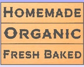 "3 Custom Carved Signs 40""x10""-Homemade, Organic, Fresh Baked Similar to the Dairy Sign in Font, Finish"