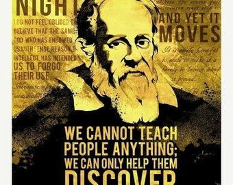 20% OFF SALE WOW Galileo Galilei Science Quotes Poster