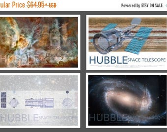 20% OFF SALE NASA Space Hubble Telescope Poster Set Collection, Set of 4
