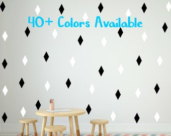 40 Colors! 50 Peel and Stick Diamonds Wall Decals For Kids Rooms, Nursery Decor Bedrooms Wall Sticker Decor Nursery Wall Decals Custom Color