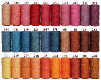 1 SPOOL Waxed Polyester Cord - 120 COLORS AVAILABLE - Macrame Cord - Linhasita Waxed Cord - Macrame String - Hilo encerado