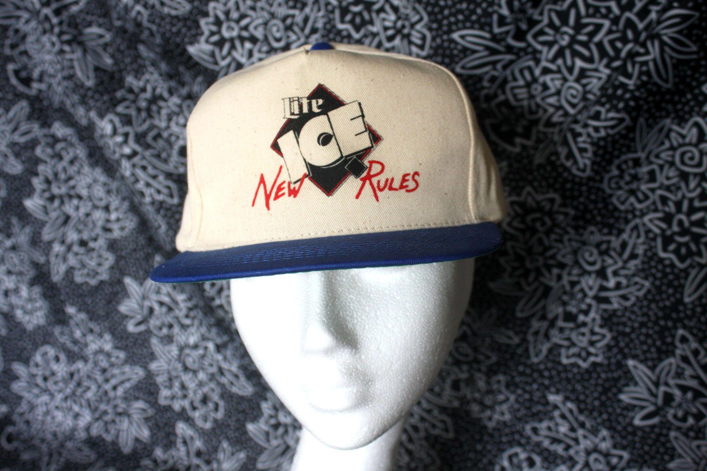 Miller Lite Ice Vintage 80s Snapcback Baseball Cap. 90s Deadstock Beer Hat.  Miller Lite fbdaf0d3d713