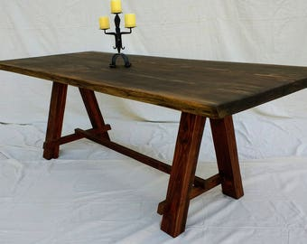 Live Edge Dining Table made with reclaimed Douglas Fir ( local pick up or delivery only please )