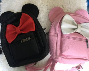 Minnie Mouse backpack, Minnie Mouse mini backpack, Minnie Mouse bag