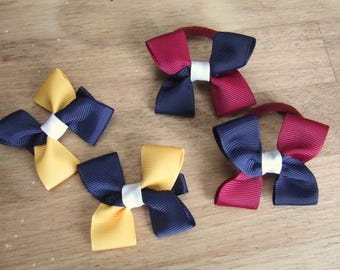 Mini Square Bows, School Hair Bows, Made to Order
