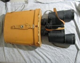 Silver vintage binoculars with case 7X50 No 5506