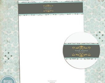 ON SALE NOW Letterhaed - Custom Personalized Letterhead - Photoshop Template - Instant Download