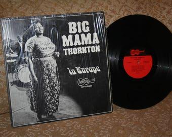 "Vintage Vinyl Album 1960s ""Big Mama Thornton in Europe"" ARHOOLIE F-1028!  Cover Still in Shrinkwrap!"