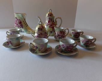 Limoges Victorian China Tea Service Set for Six